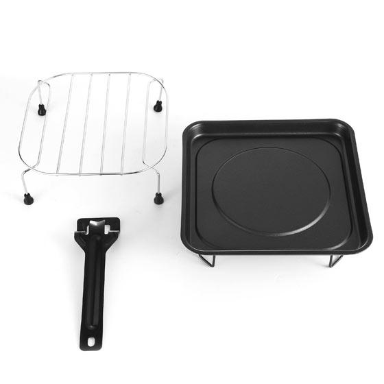 微波炉烤架使用步骤图解