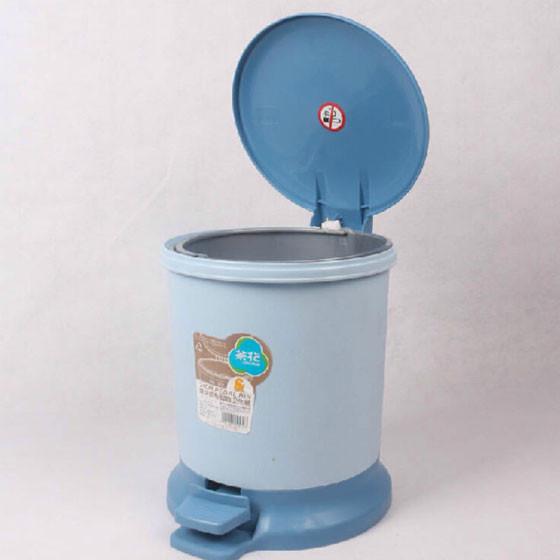 茶花6l圆型脚踏垃圾桶加垃圾袋