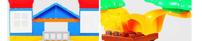益智玩具 猪猪侠7407儿童拼装积木玩具      以著名动画片