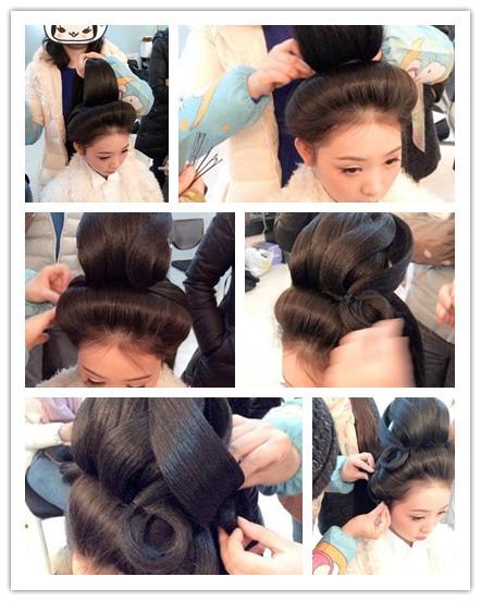 扎简单古装发型步骤图解