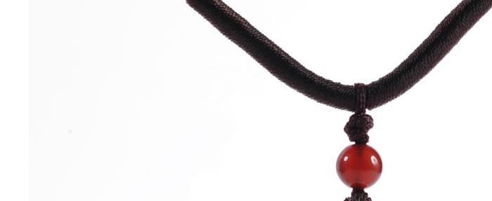 玉珠项链一条绳编法图解